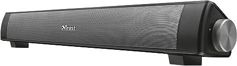 Trust Lino - Barra de Sonido inalámbrica con Bluetooth, Altavoces PC - Negro