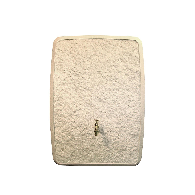 Regentonne Regenspeicher Multitank 250 Liter Farbe sandstein aus UV- und witterungsbeständigem Material. Regenfass bzw. Regenwassertank mit zwei unterschiedlichen Seite und hochwertigen Anschlüssen.