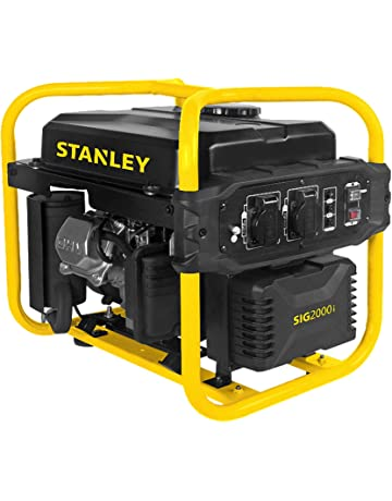 Stanley 604800120 Sig 2000 – 1 Generador Inverter, 2000 W, 230 V, Negro