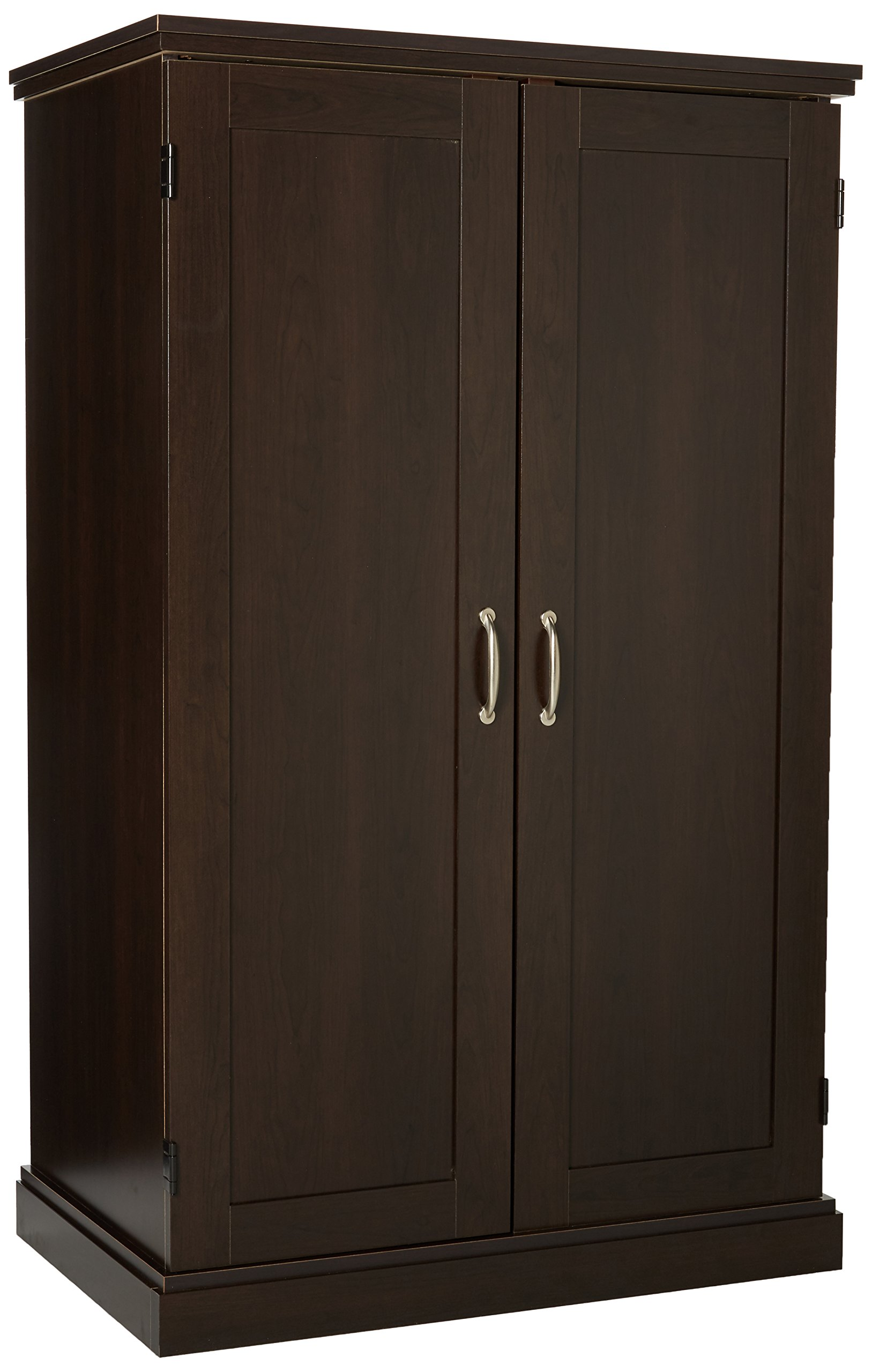 Sauder Computer Armoire, Cinnamon Cherry Finish