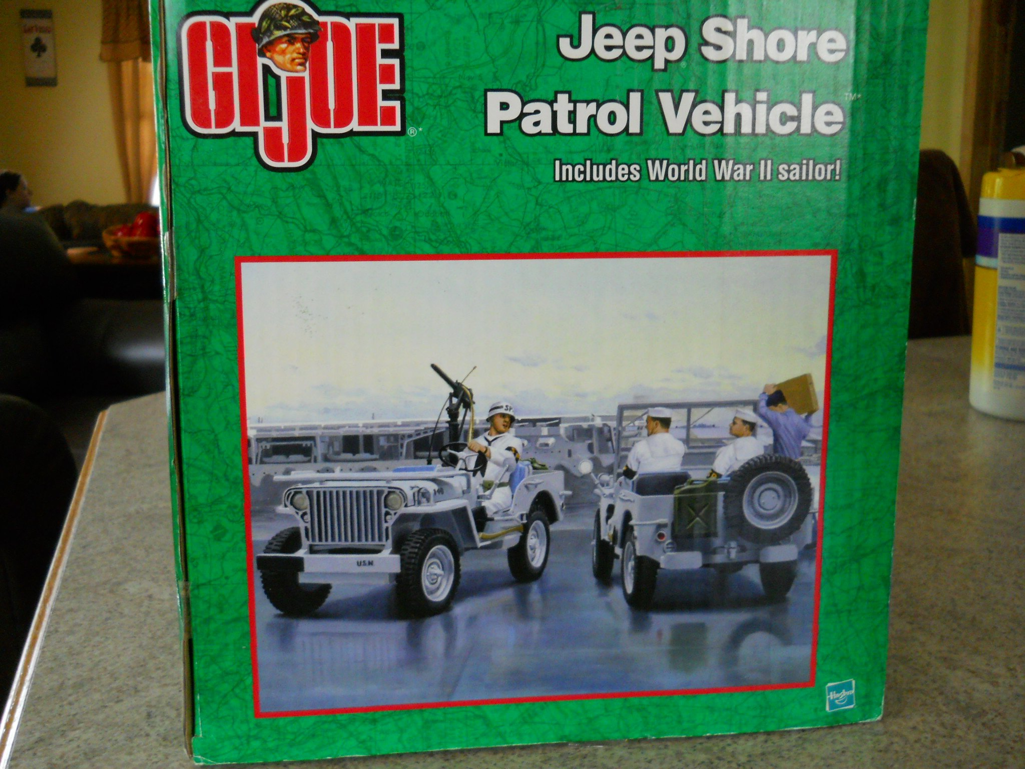 12 Gi Joe Ww Ii Us Navy Shore Patrol Willys Jeep Vehicle With Sp