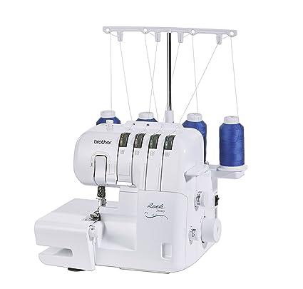 Máquina de coser para principiantes con guía de enhebrado - Brother 2104 D Overlock