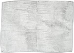 DII 100% Cotton Chenille Popcorn Memory Foam Luxury Spa Bath Rug, Soft & Absorbent, Place Near Vanity, Bath Tub or Shower, Perfect for Bathroom, Dorm Room, and Other More Humidity Use, 17x24 - White