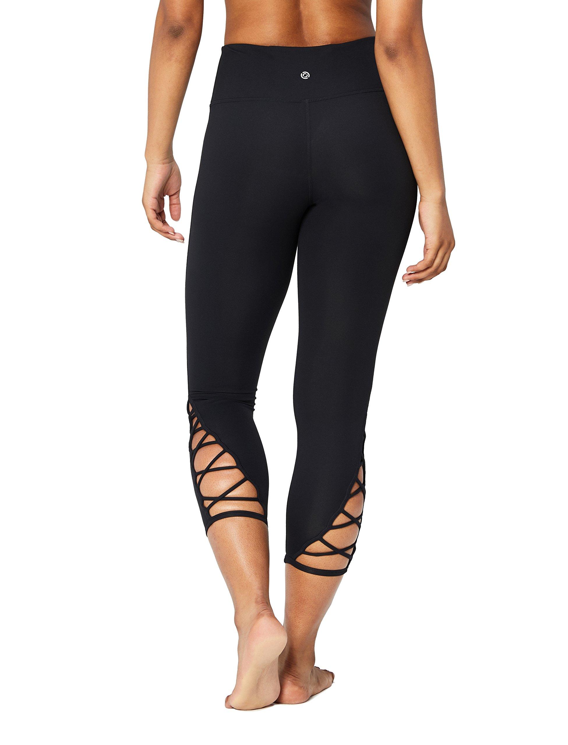 Core 10 Women's High Waist Yoga Lattice 7/8 Crop Legging - 24'', Denim, Large
