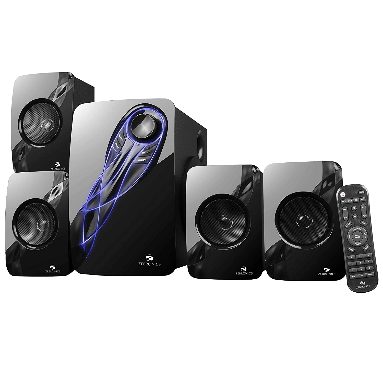 Zebronics Jelly Fish 4.1 Channel Multi Media Speaker (Black)