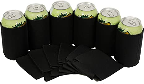 FREE Shipping. Blank Neoprene Collapsible Can Coolie Variety Color 12-Pack