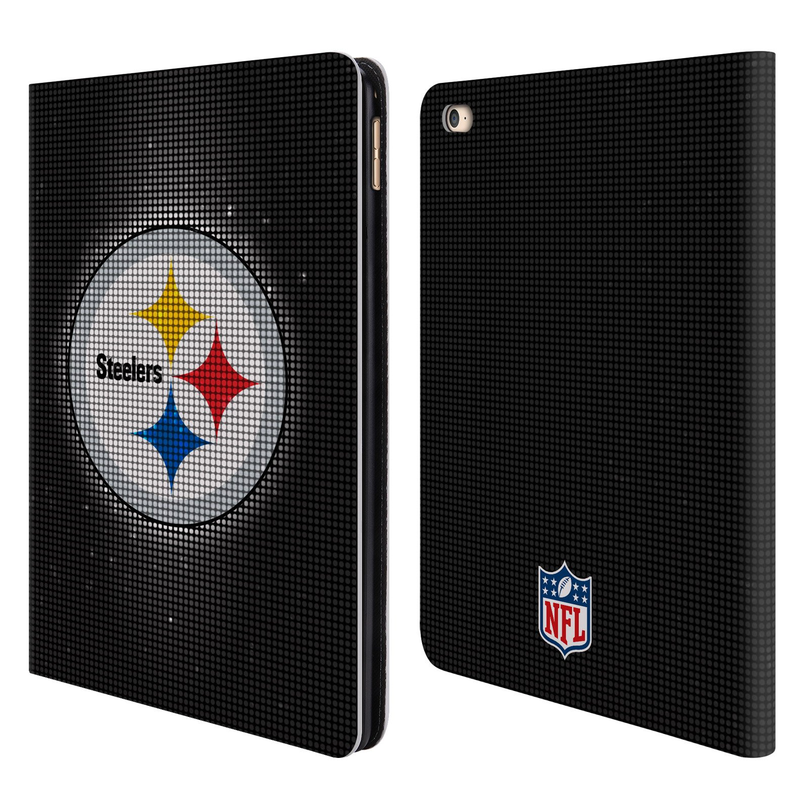 Official NFL LED 2017/18 Pittsburgh Steelers Leather Book Wallet Case Cover for iPad Air 2 (2014)