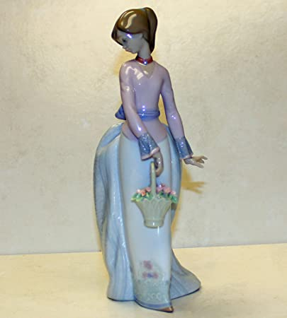 Lladro Basket of Love Figurine Glazed