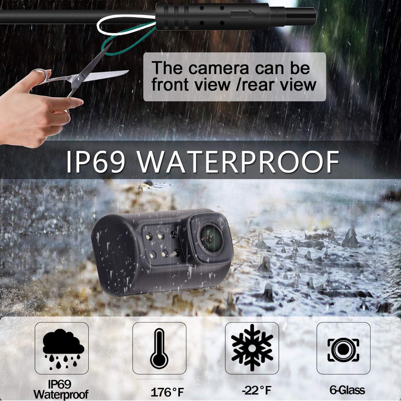 Yakry Y78 HD Backup Camera for Car//Truck//SUV Rear View Reversing Intelligent Dynamic Trajectory Camera with IP 69K Waterproof Mount Hidden Guide Line ON//Off