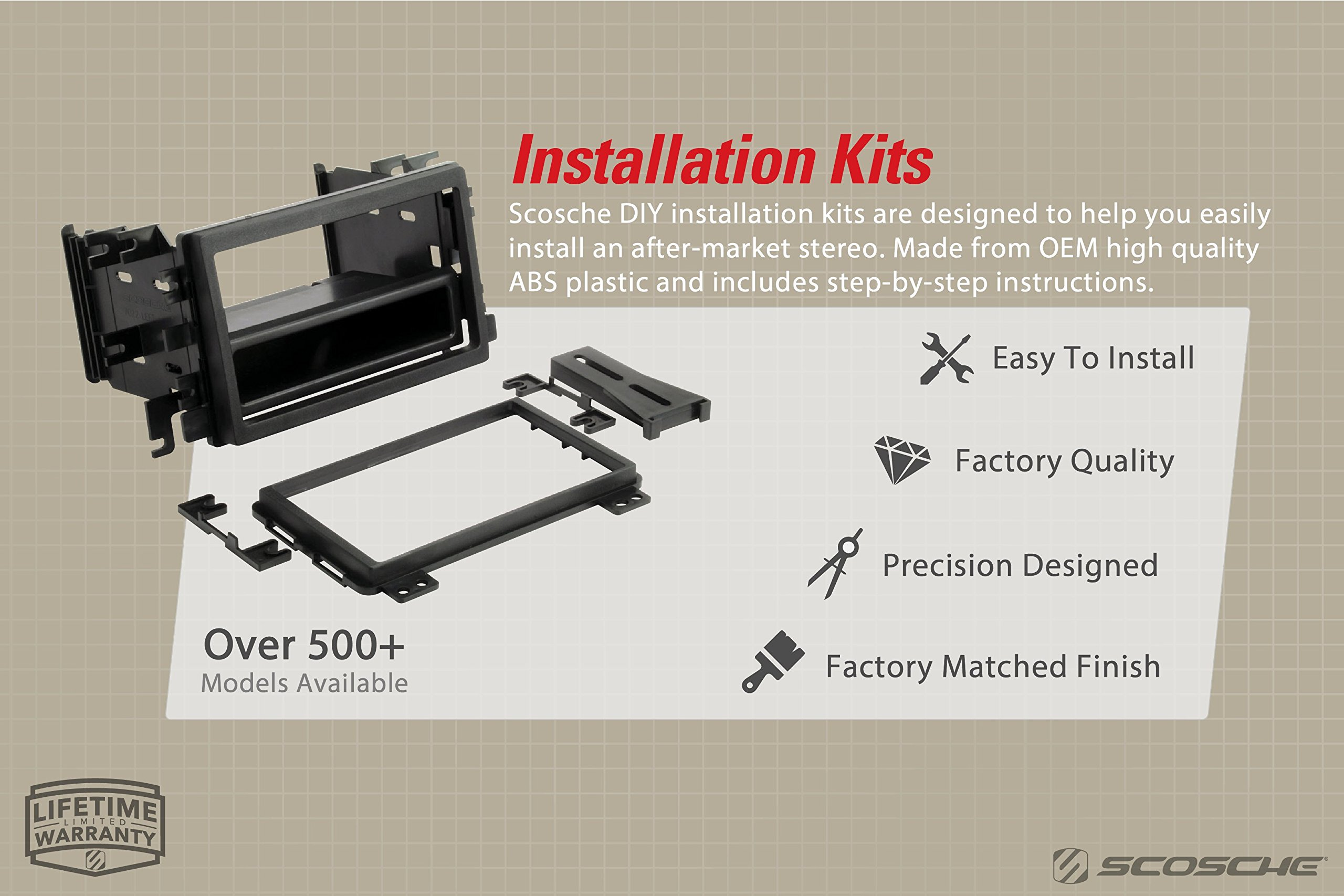 Scosche BW2380DDB 2004-2007 BMW 5 Series E60 ISO Double DIN Kit