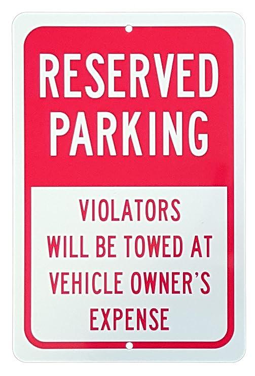 Cartel de reservado aparcamiento - los violadores serán ...