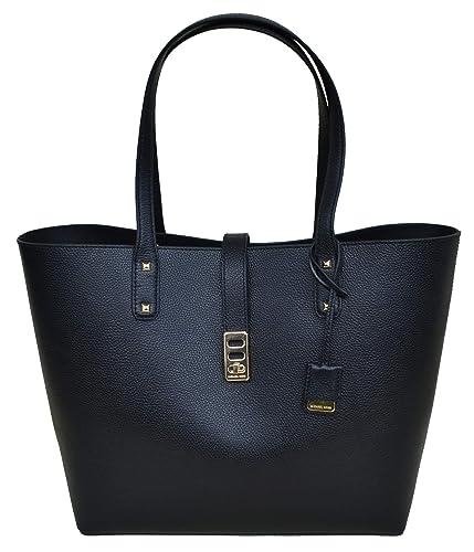 Amazon.com  Michael Kors Karson LG Carryall Tote Leather Black  (35T8GKRT3L)  Shoes 290e5c46b0a