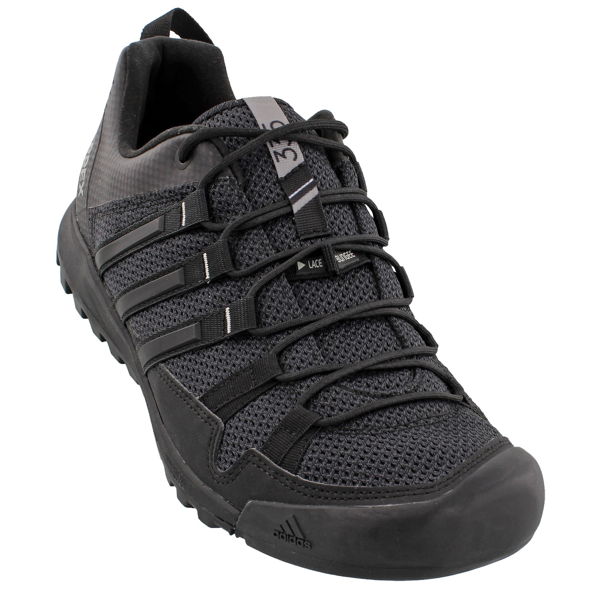 adidas Sport Performance Men's Terrex Solo Hiking Sneakers, Black Textile, Rubber, 8 M