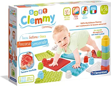 Mehrfarbig 17313 Clementoni- Soft Clemmy-Tappeto Tocca Spielzeug