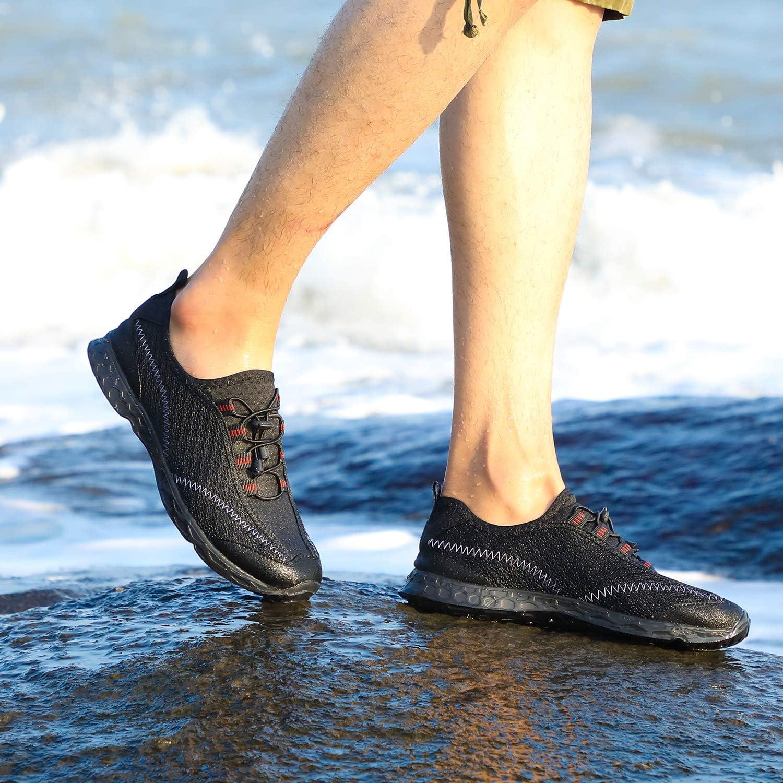 Lavibelle L/ég/ères Chaussures deau S/échage Rapide Respirante Chaussons Aquatiques pour Homme Femme