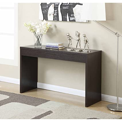 Basic Square Hallway Console Table Made Of Composite Wood With A Beautiful  Woodgrain Finish, Great
