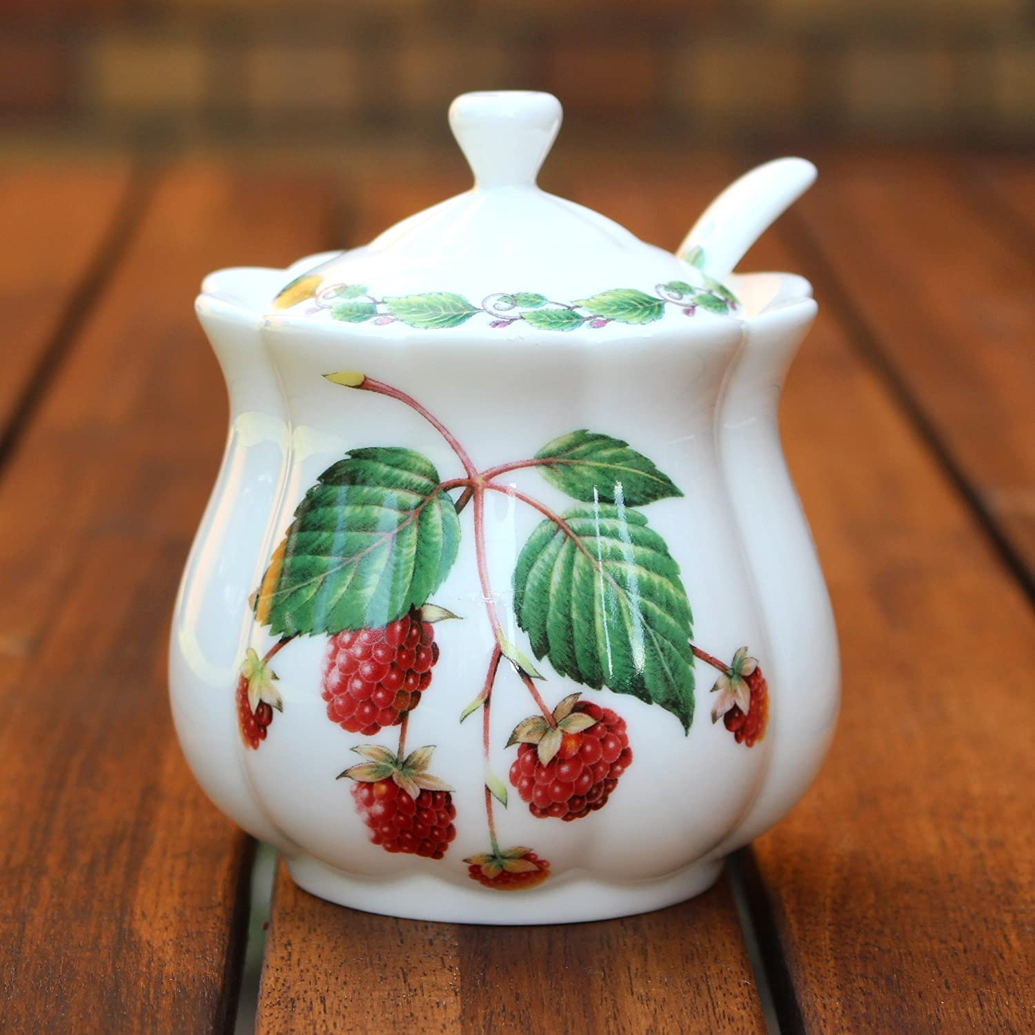 Classic Jam Pot and Spoon - Raspberry The Redwood Collection RW8523