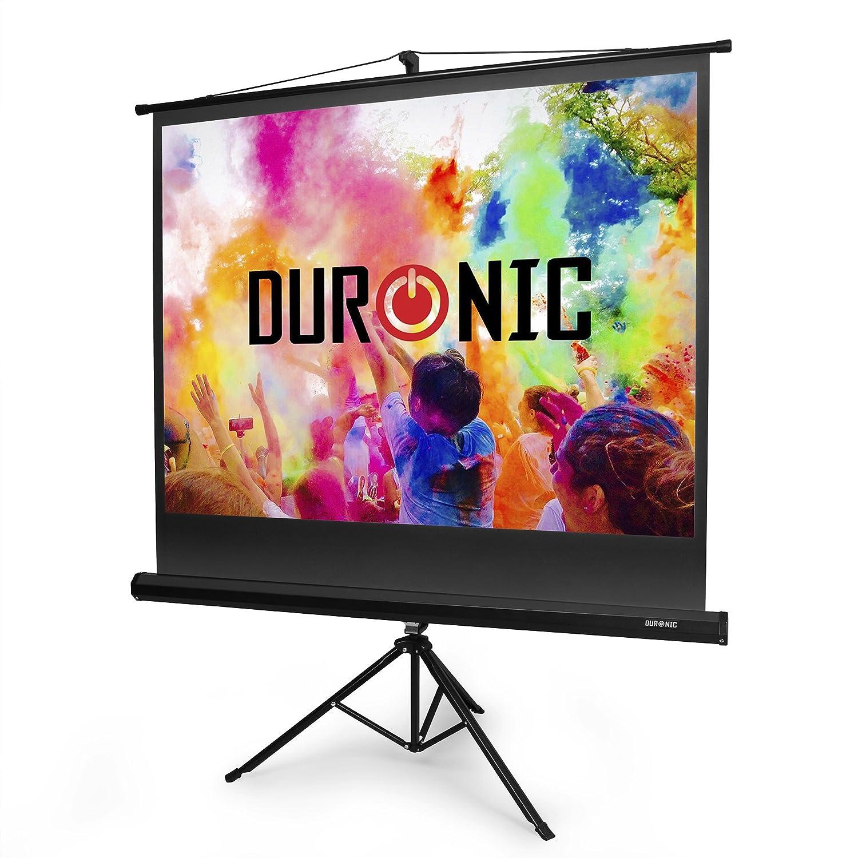 "Duronic Projector Screen TPS86/43 (Black) Projection Screen For | School | Theatre | Cinema | Home | Tripod Projector Screen - 86""- 4:3 Screen (Screen: 175cm (W) X 131cm (H)"