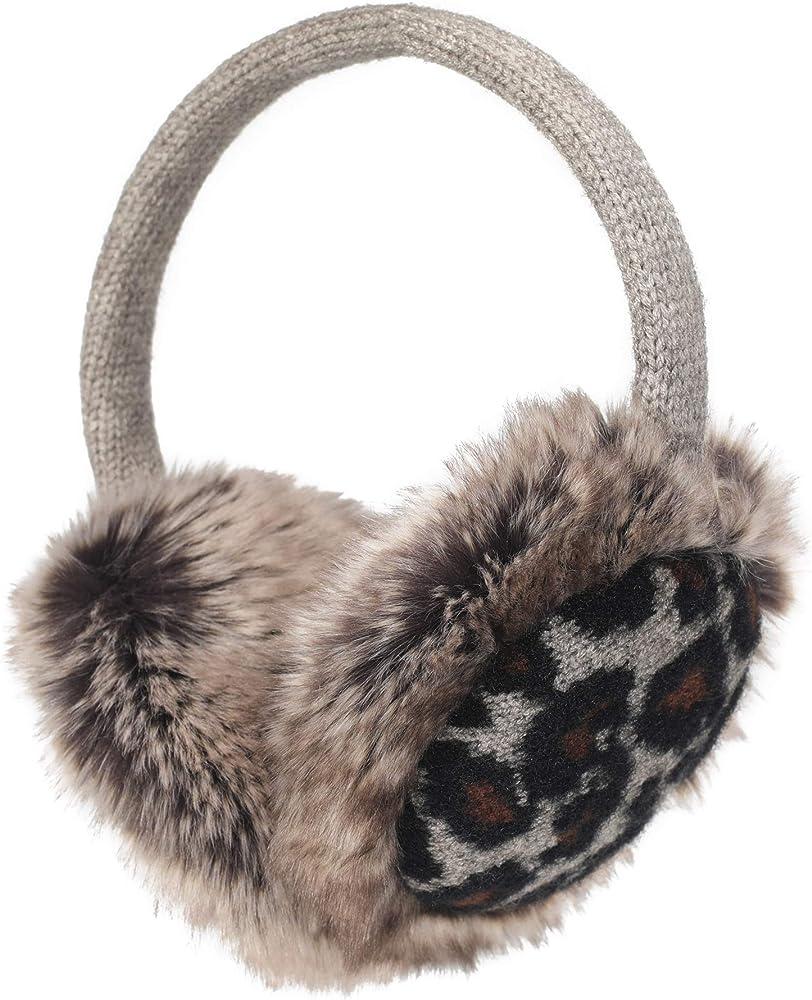 SZHAIYU Womens Winter Faux Fur EarMuffs Fashion Reindeer Ear Warmers Gifts for Girls Cute