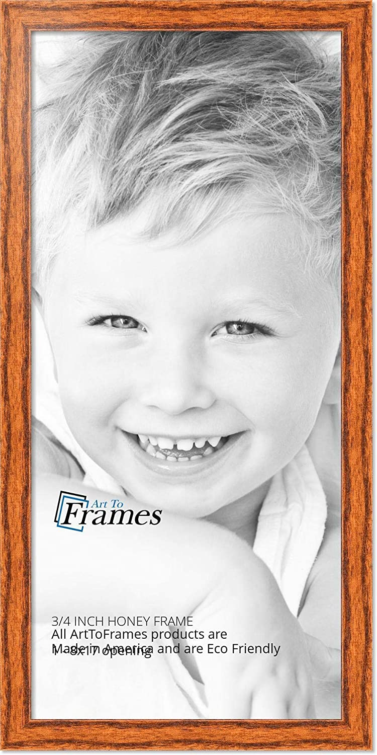 ArtToFrames 10x36 inch Honey on Red Oak Wood Picture Frame 2WOM0066-1343-YHNY-10x36 Art to Frames