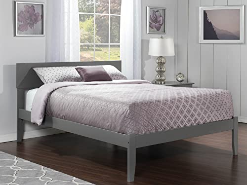 Atlantic Furniture AR8151009 Orlando Platform Bed with Open Foot Board, King, Grey