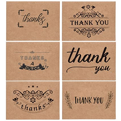 amazon com thank you cards with envelope and adhesive stickers 36