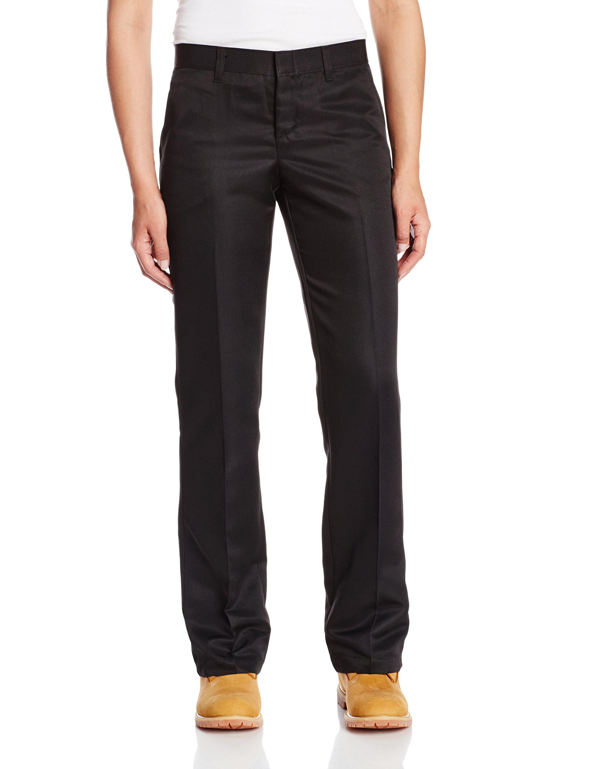 Dickies Occupational Workwear FP831BK 4 RG Polyester Relaxed Fit Women's Micro Denier Executive Pant with Straight Leg, 4 Regular, 31-1/ 2'' Inseam, Black