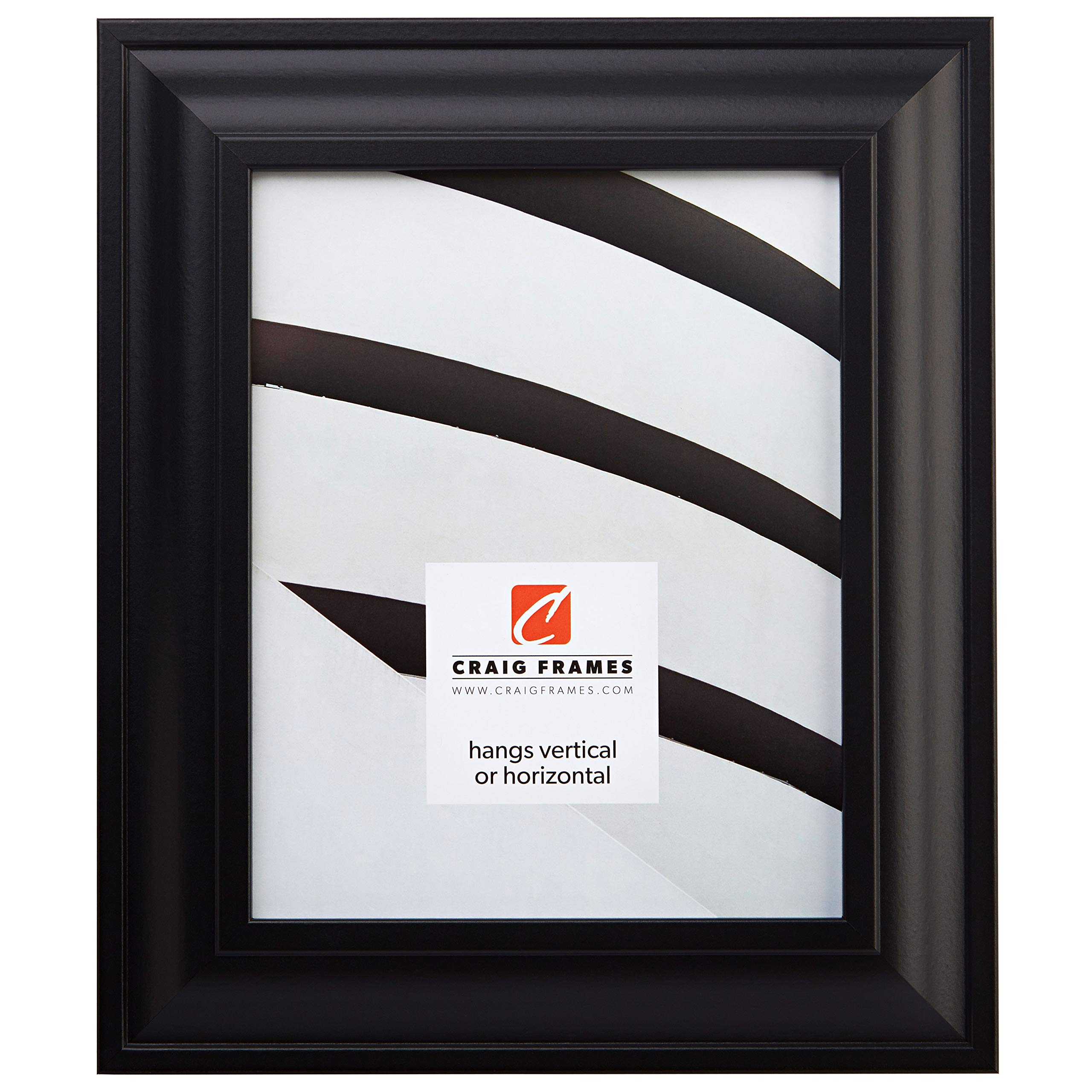 Craig Frames 21834700BK 24x36 Picture/Poster Frame, Smooth Finish, 2-Inch Wide, Black