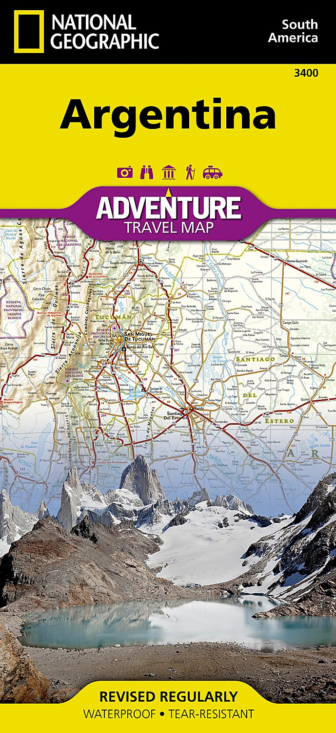 Argentina National Geographic Adventure Map product image