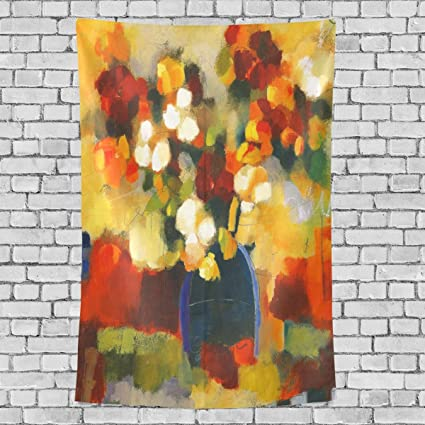 Amazon Com Tapestry With Abstract Painting Colourful Floral