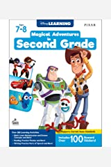 Disney Learning | Magical Adventures in 2nd Grade | Math and Language Arts Workbook, 256pgs Paperback