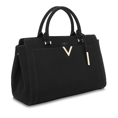 0107284533b8 LaBante - Tote Bag Women - Dawson- Black Handbag Work Bag Laptop Bags for  Women