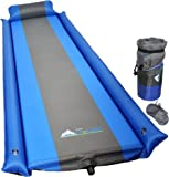 Sleeping Pad - with Armrest & Pillow - Self inflating Sleeping Pad is Ideal for Camping Hiking - waterproof - IFor-Rest-Camping Pad will Never let your Arms&Foot feel Ground - inflatable Sleep Pad