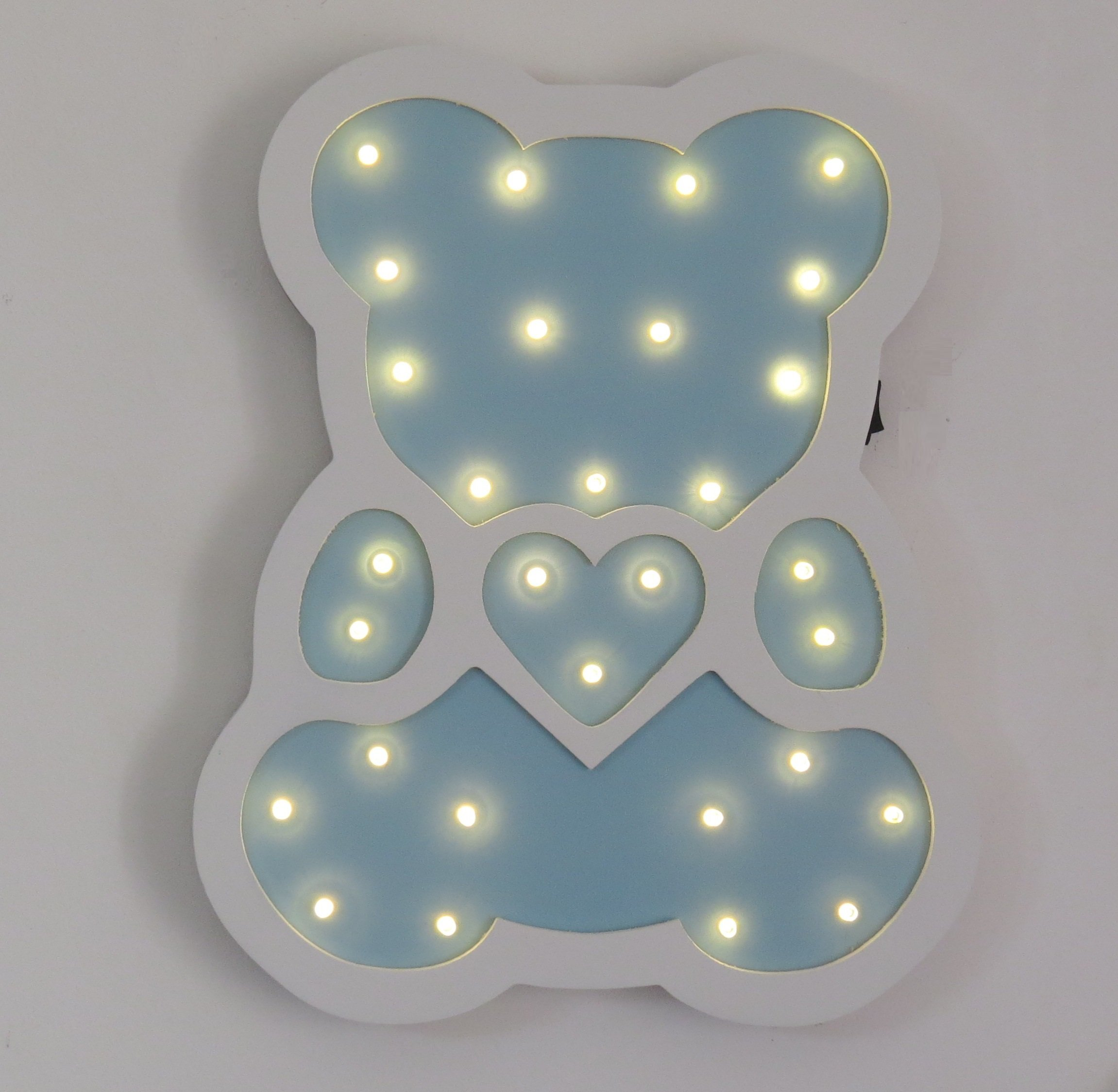 Night Lights LED Wooden Decorative Table Lamps for Nursery Decor,Kid's Room,Home Decor &Gifts (Bear)
