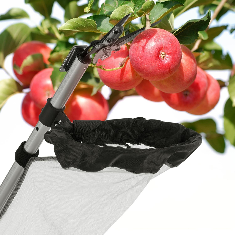 Waldbeck Big Apple /• Big Apple Apple Kit /• Set f/ür Big Apple Erntemaschine /• Teleskopstange /• Obsternter /• Obstpfl/ücker /• Teleskopverschluss /• Netz /• Tasche /• Erntekorb /• Zubeh/ör Set /• w