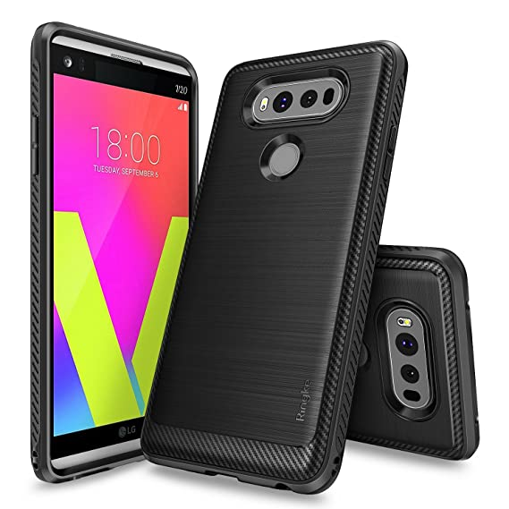 timeless design 10ce4 a99f5 Ringke Onyx Compatible with LG V20 Case Brushed Metal Design [Flexible &  Slim] Dynamic Stroked Line Pattern Durable Anti Slip Impact Shock Absorbent  ...
