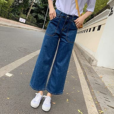 pantalón vaquero de mujer de moda cortados