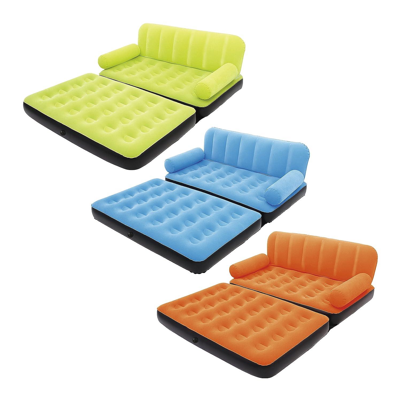 Bestway aufblasbares Multi-Max Fashion Luftsofa/Luftbett mit Elektropumpe, sortiert, 188 x 152 x 64 cm