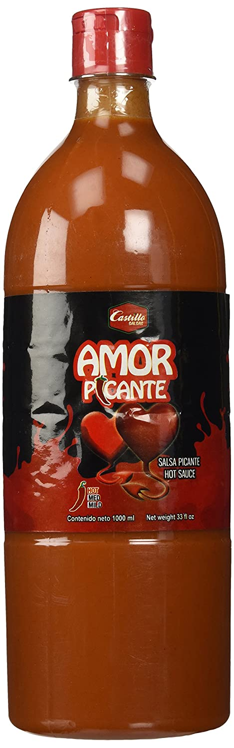 Amazon.com : Salsas Castillo Amor Picante Hot Sauce 33oz (2 Pack) : Grocery & Gourmet Food