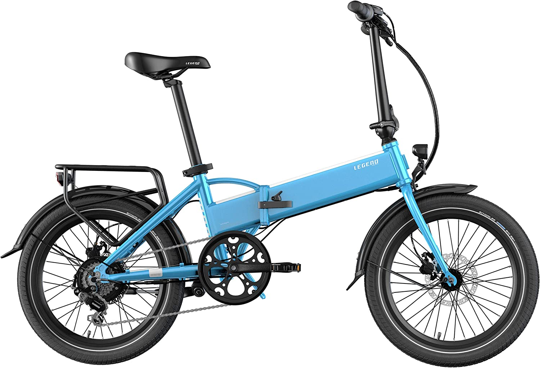 Legend EBIKES Monza 36V10.4Ah Bicicleta Eléctrica Plegable, 25 Km/h, Unisex Adulto, Azul Steel, Batería 36V 10.4Ah (374.4Wh): Amazon.es: Deportes y aire libre