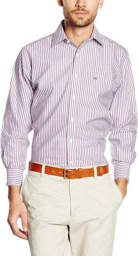 Pedro del Hierro Camisa Hombre Violeta 2XL: Amazon.es: Ropa y ...