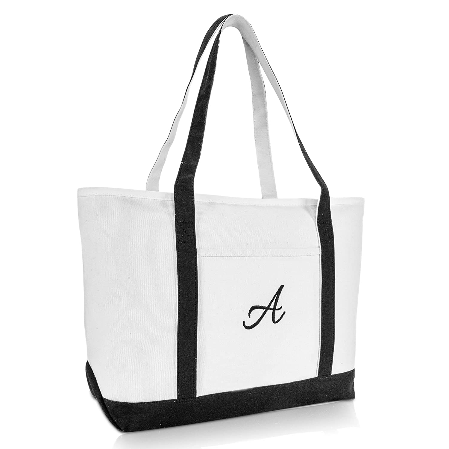 9258b9f3cc Amazon.com: DALIX Premium Women's Tote Bags Large Tote Bag Personalized  Gifts Black A: Shoes