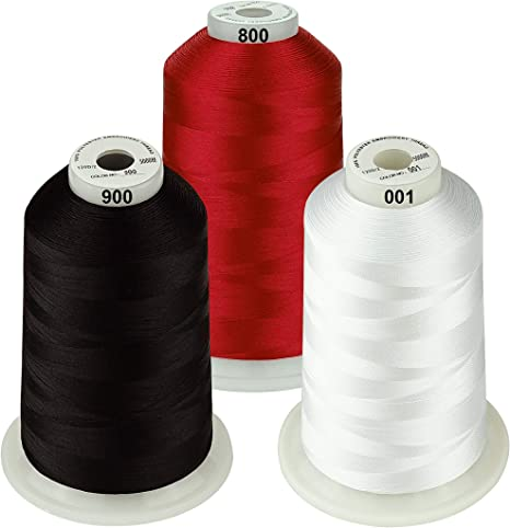 Basic Colors 1 Various Assorted Color Packs of Polyester Embroidery Machine Thread Huge Spool 5000M for All Embroidery Machines 24 Options New brothreads