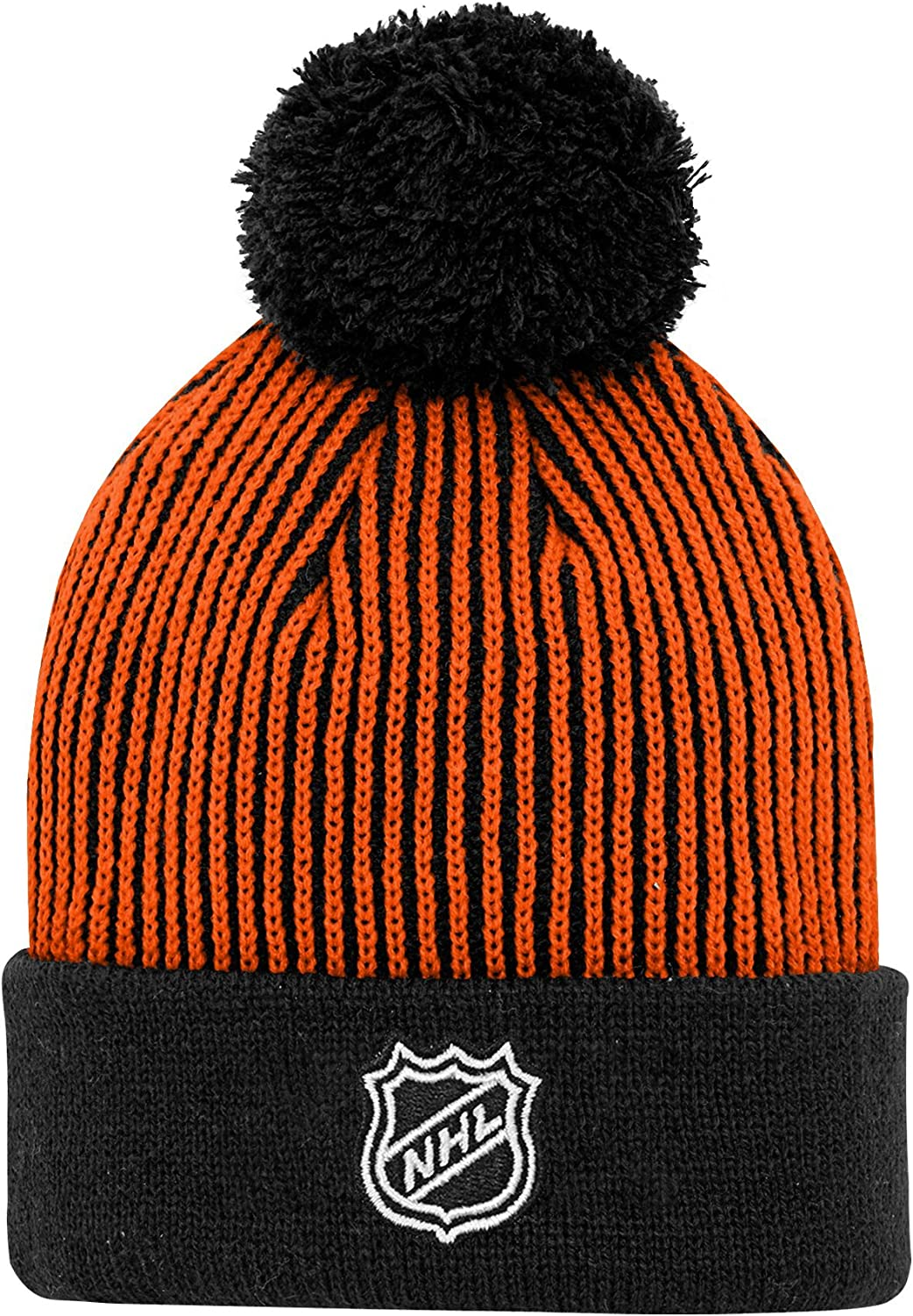 Black NHL by Outerstuff NHL Anaheim Ducks Youth Boys Legacy Hidden Color Captains Knit Hat Youth One Size