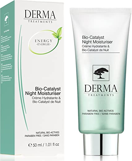 Derma Treatments Bio-Catalyst Night Moisturiser With Vitamin E & Coconut Oil - Deeply Hydrate & nourishes Skin - Made In The Uk - 50ml