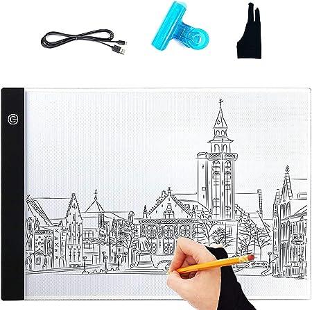 Caja de luz de dibujo, A4 caja de luz LED de dibujo de tablero de dibujo