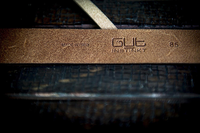 Handcrafted Italian Leather Belt Vandriar Gut Instinkt Black 95cm