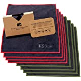 Extra Large [8 Pack] Ultra Premium Quality Lens Microfiber Cleaning Cloth - Microfiber Cloth for Camera Lens, Glasses…