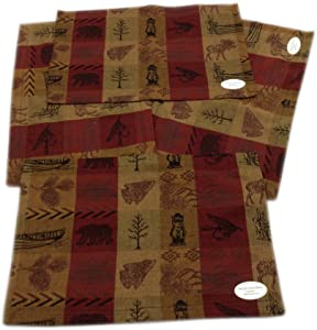 High Country Jacquard Woven Reversible Cloth Placemat Set of 4