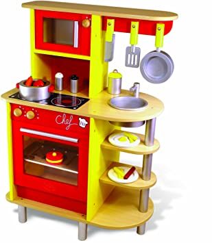 Excellent Vilac Large Wooden Play Kitchen Wood Amazon Canada Download Free Architecture Designs Lectubocepmadebymaigaardcom